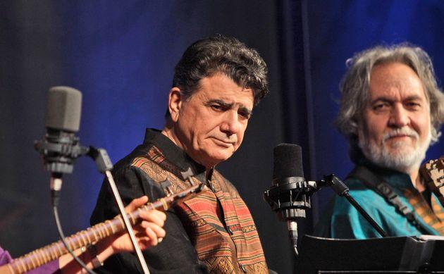 Le chanteur et compositeur Mohammad-Réza Shajarian (ici en concert aux Emirats arabes unis en...