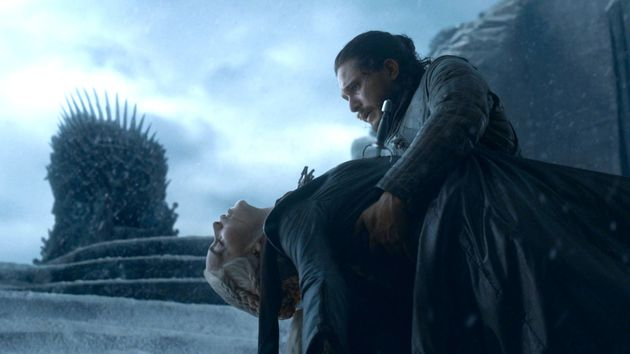 Emilia and Kit Harington in the Game Of Thrones finale