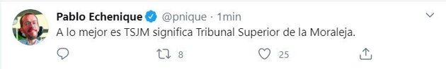 La frase de Echenique sobre el TSJM que ha provocado cientos de réplicas: le ha salido al tercer