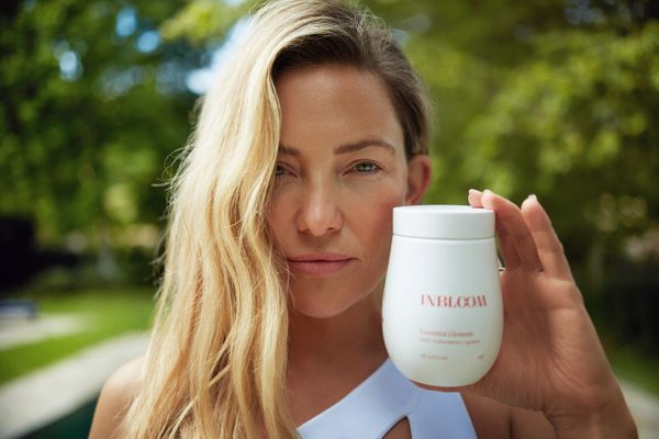 "Kate Hudson is going a different route with a line of <a href=""https://www.tobeinbloom.com/products/essential-elements"" targe"