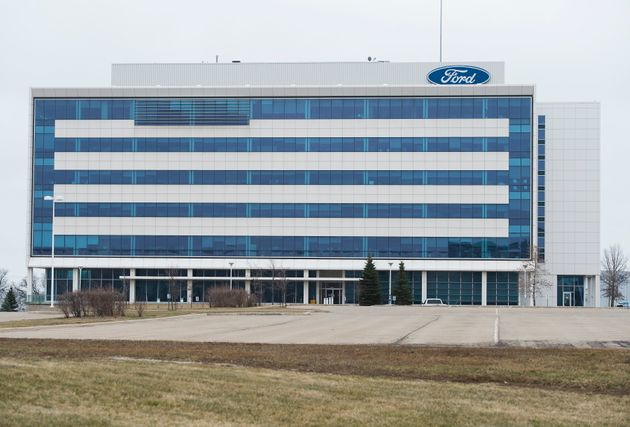 The ford assembly plant is seen here in Oakville, Ont., on March 19, 2020. The Oakville plant employs...