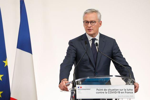 Bruno Le Maire, ici au ministère de la Santé à Paris, le 8 octobre