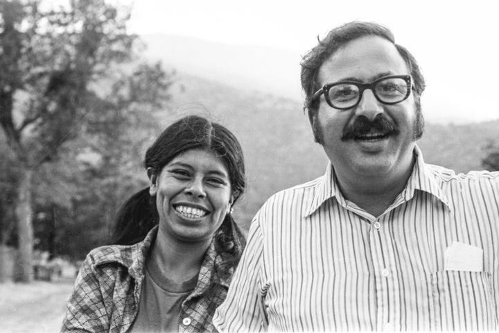 """Labor activists Jessica Govea Thorbourne with Marshall Ganz in the 1970s. Govea Thorbourne's """"persistent voice and international organizing made her truly special and a role model for other women in union movements,"""" said history professor Lori A. Flores.<i>&nbsp;</i>"""