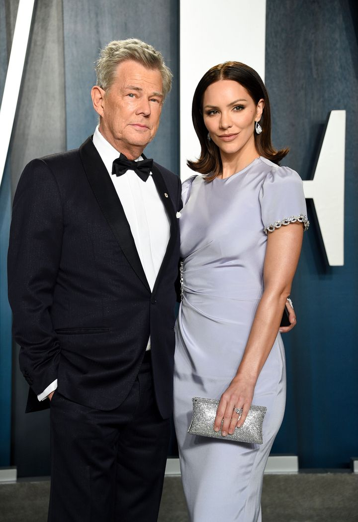 David Foster and Katharine McPhee pictured together at the Vanity Fair Oscar Party earlier this year.