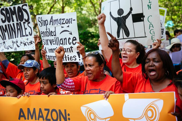 No stranger to controversy, Amazon came under fire last year when immigration activists rallied to protest the retailer's business offering cloud services to ICE.