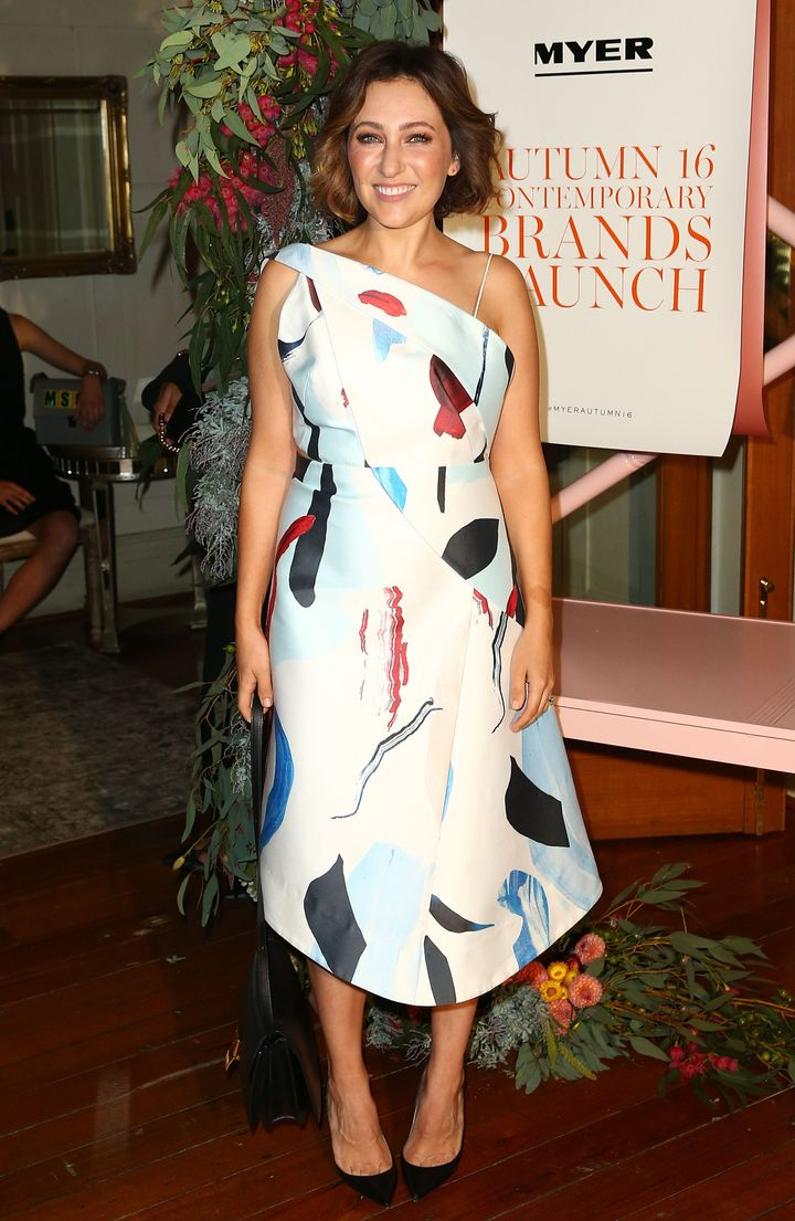 Zoe Foster Blake poses at the Myer Contemporary Brands Collections at the George Ballroom on March 10, 2016 in Melbourne, Australia.