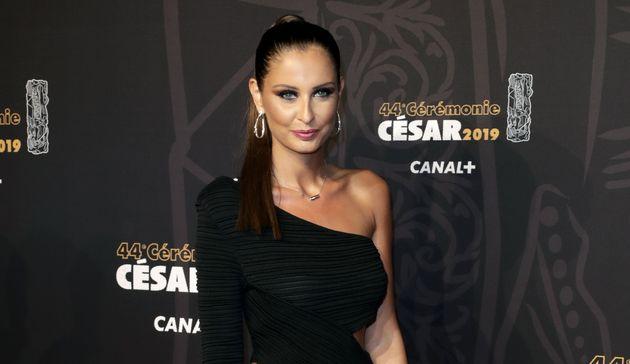 L'ex Miss-France lors de la 44ee cérémonie des César à la salle Pleyel à...