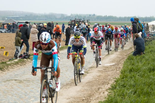 ROUBAIX, FRANCE - APRIL 14: Alexander Kristoff of Norway from UAE Team Emirates during the 117th Paris-Roubaix...