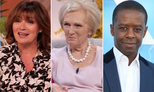Lorraine Kelly, Mary Berry and Adrian Lester are all featured on the Queen's birthday honours list