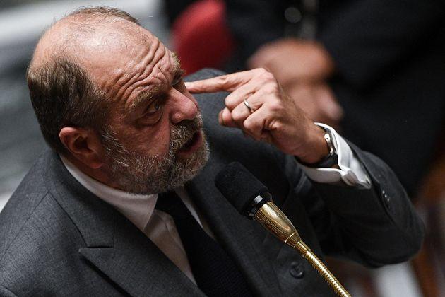 Le ministre de la Justice Éric Dupond-Moretti lors d'une session de questions au gouvernement,...