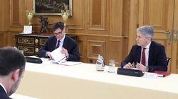Rueda de prensa tras el Consejo de Ministros, con Salvador Illa y Fernando