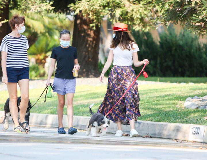 Ana de Armas y Seraphina Affleck en Los Ángeles