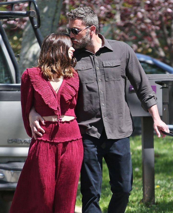 Ben Affleck y Ana de Armas en Los Ángeles en el inicio de su noviazgo.