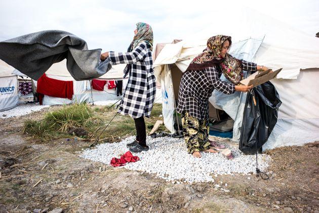 Γυναίκες πρόσφυγες...