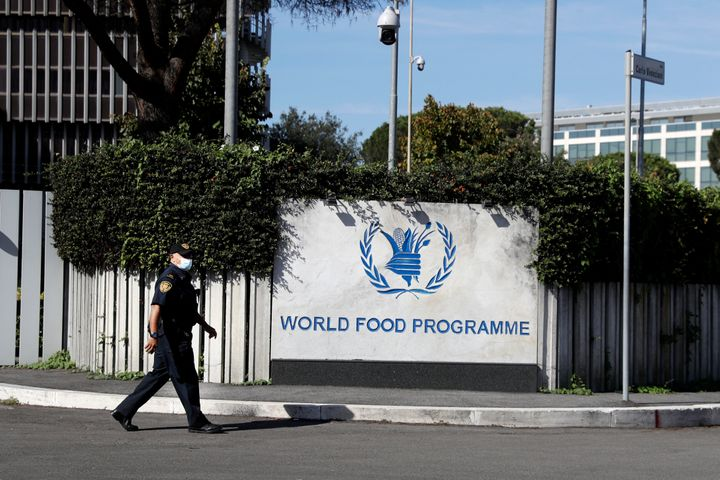The headquarters of the United Nations World Food Programme (WFP), in Rome, October 9, 2020.