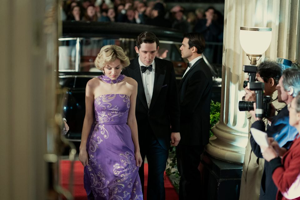 Emma and Josh as Princess Diana and Prince Charles in the new season of The