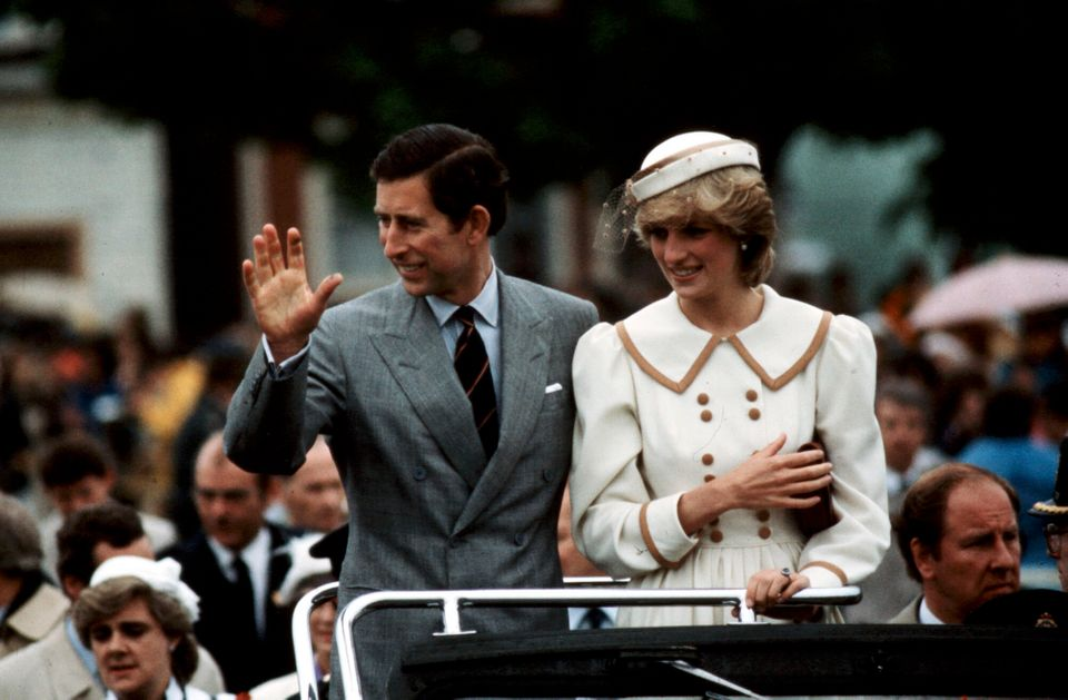 Prince Charles and Princess Diana during a visit to Canada in