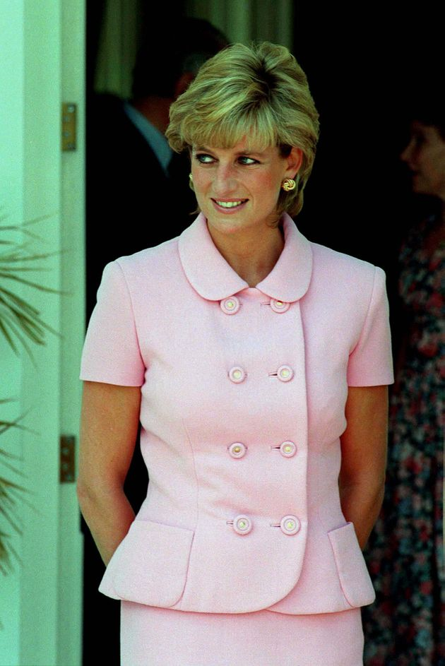 Princess Diana pictured in