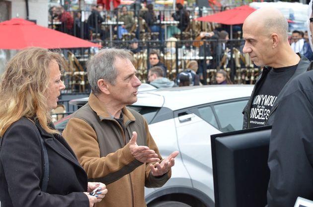 Pascal Bédard (à droite) lors d'un «cube de lavérité»,...
