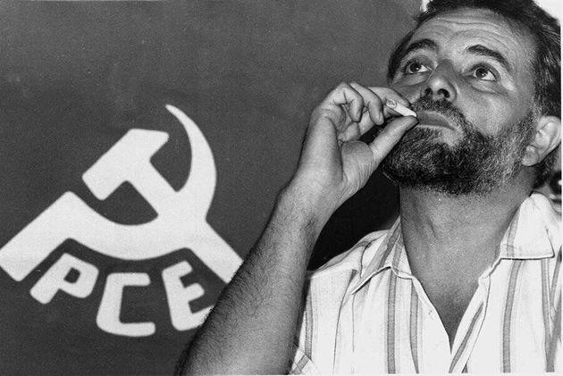 El histórico líder de Izquierda Unida, Julio Anguita, en una imagen de