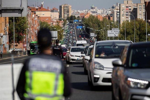 Atascos en la A-5 en Madrid por los controles de la