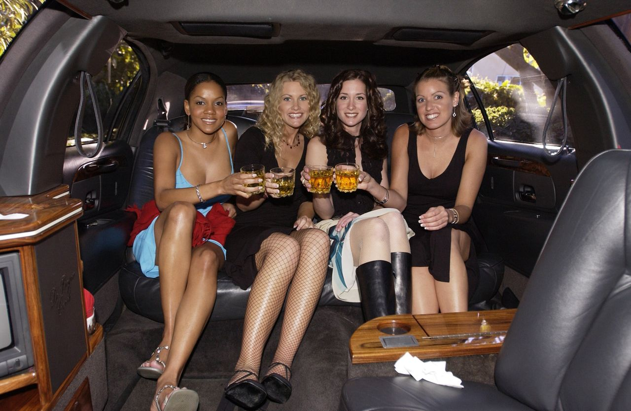 """LaNease Adams and three other contestants during the filming of the very first season of """"The Bachelor,"""" which aired in 2002."""
