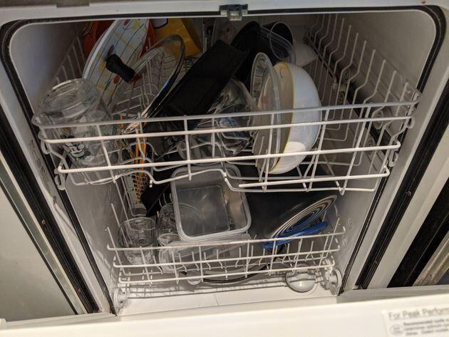 Le lave-vaisselle de l'auteure sert exclusivement à sécher la vaisselle.