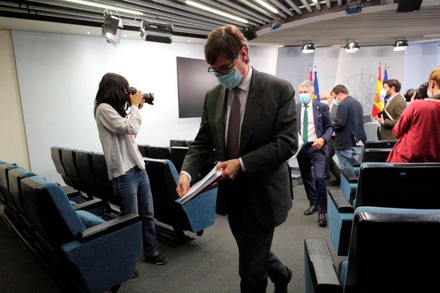 Salvador Illa y Marlaska, tras la rueda de prensa sobre el estado de