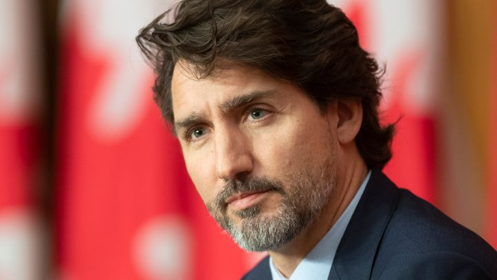 Prime Minister Justin Trudeau responds to a question during a news conference on Oct. 9, 2020 in Ottawa.