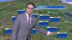 Watch: Weatherman Rolls With Hilarious Technical