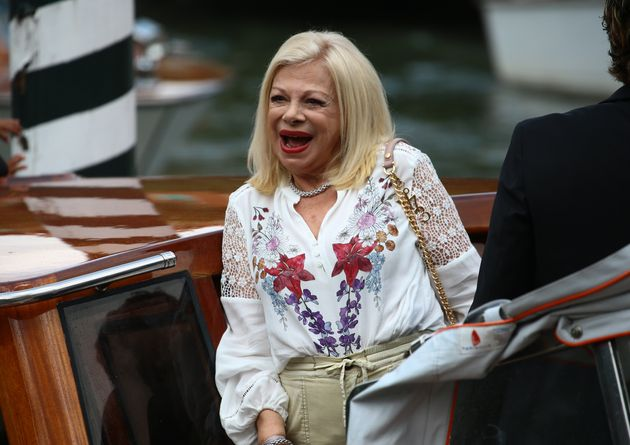 Sandra Milo is seen arriving at the Excelsior during the 77th Venice Film Festival on September 07, 2020...