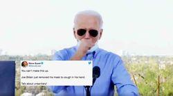 Joe Biden enlève son masque pour tousser, les républicains en profitent pour lui faire la