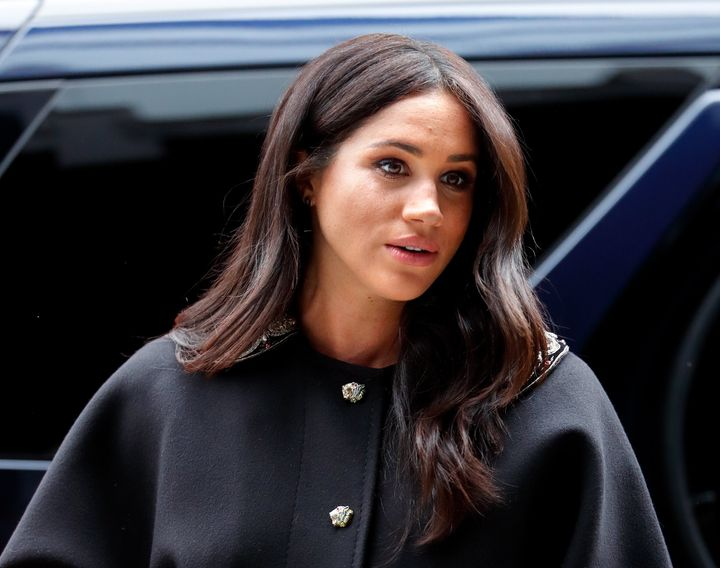 Meghan Markle in March 2019, when she was pregnant with her son, Archie.