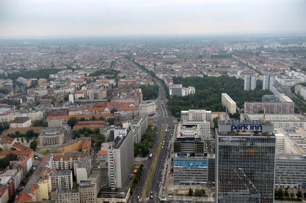 Une vue aérienne de Berlin, en