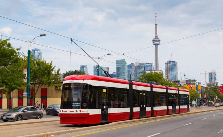A streetcar runs down Toronto's Spadina Ave. in this file photo taken Sept. 9, 2014. Toronto had the highest unemployment rate of any metro area in Canada in September.