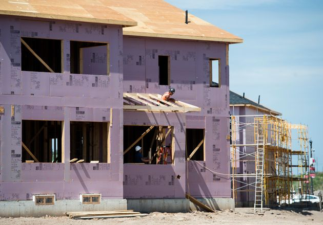 New home construction takes place in a development in Oakville, Ont., on Aug. 15,