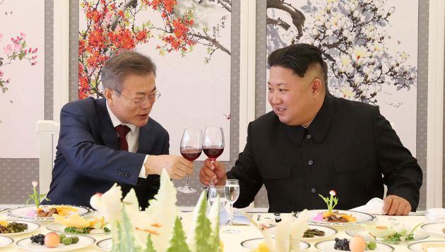 문재인 대통령과 북한 김정은