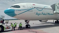 ガルーダ航空機の可愛い「マスク」。背景にはインドネシアの深刻な感染事情があった