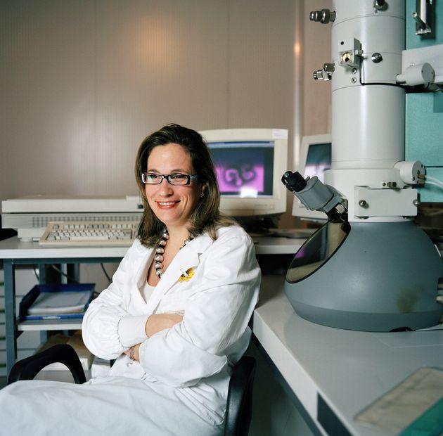 LEGNARO, ITALY - APRIL 22: Dr Ilaria Capua head of Virology Department at Istituto Zooprofilattico Sperimentale...