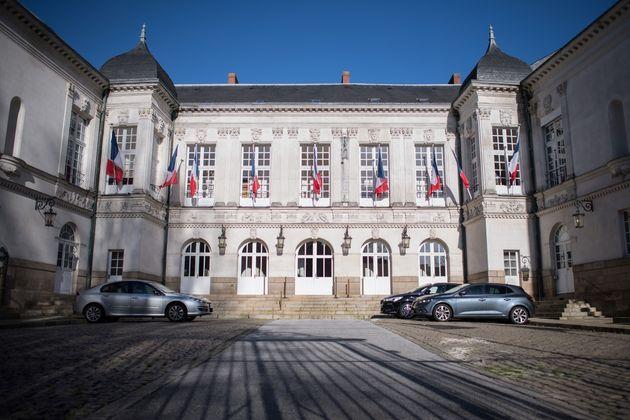 La façade principale de la mairie de Nantes, photographiée ici le 20 janvier