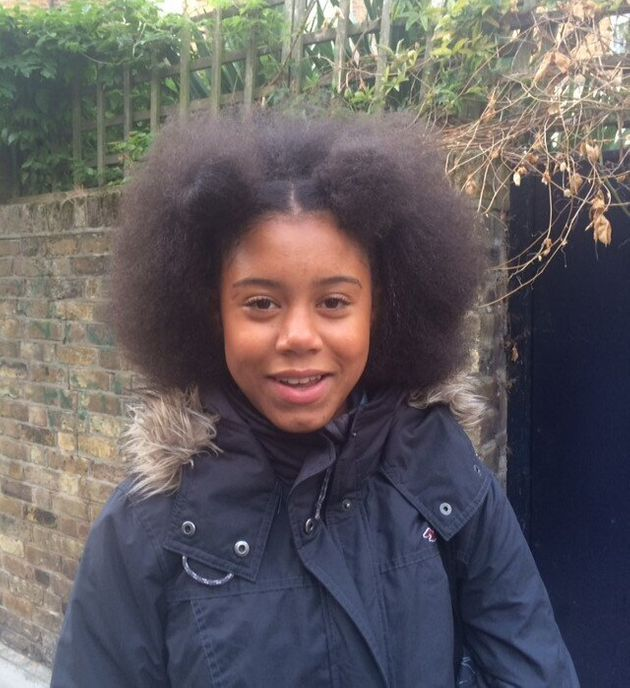 Ruby's hair the first time she was sent home from school, aged 14 in