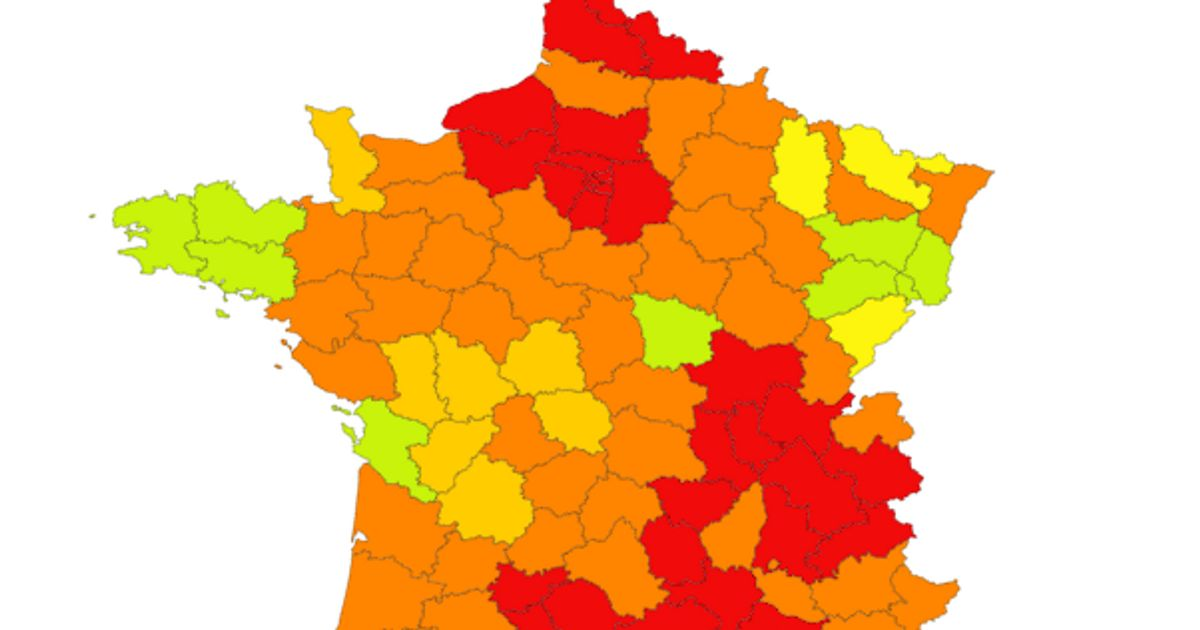 Covid 19 Nos Cartes De France Par Departement Et En Temps Reel Le Huffpost