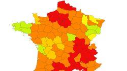 Nos cartes de France du Covid-19 en temps réel par département et par