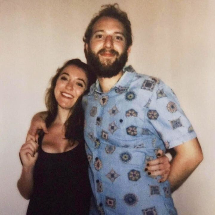 Taliesin Myrddin Namkai-Meche (right) with his girlfriend Ellie Lawrence. Namkai-Meche was murdered by a white supremacist in