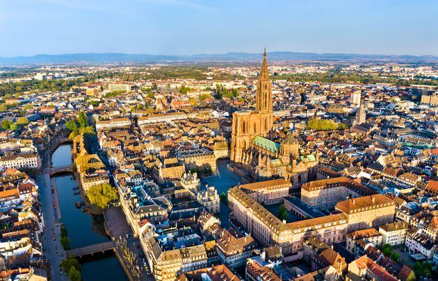 Une vue aérienne de Strasbourg. (photo
