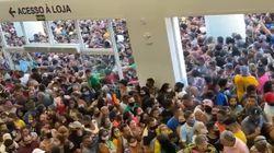 As cenas lamentáveis de aglomeração em nova loja da Havan em