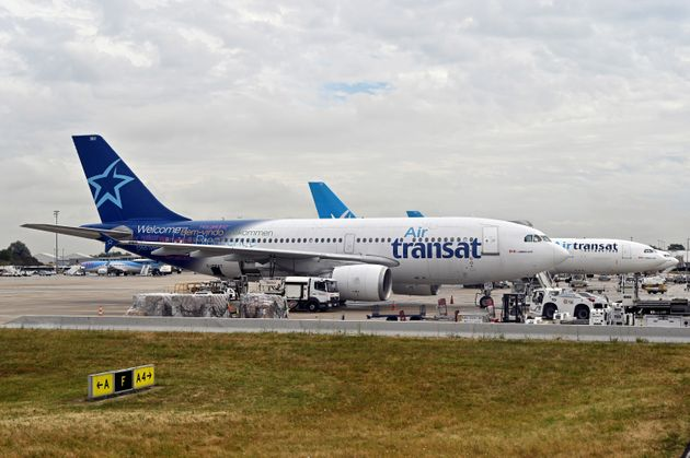 Air Transat aircrafts are pictured at Charles de Gaulle Airport in Paris on Aug. 29,