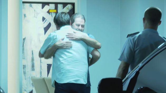 Toffoli recebe Bolsonaro em sua casa para assistir a um jogo de futebol, com a presença do indicado...