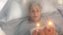 In ospedale per il covid Nonna Angela copie 94 anni e i sanitari le portano la