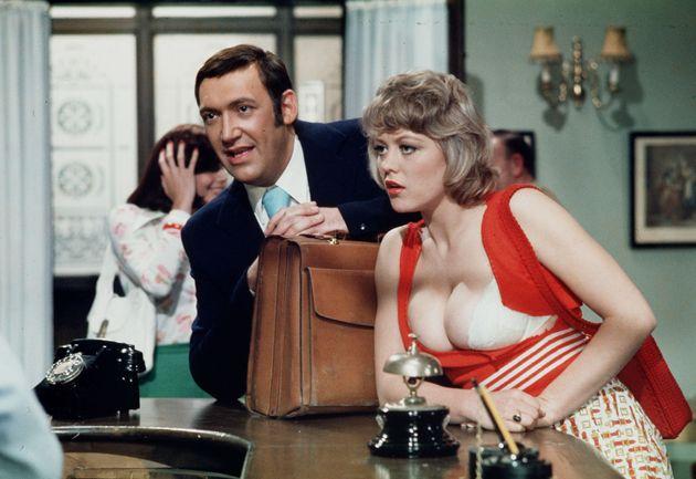 Margaret with Bernard Bresslaw in Carry On